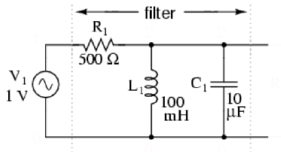 Parallel LC resonant band-pass filter